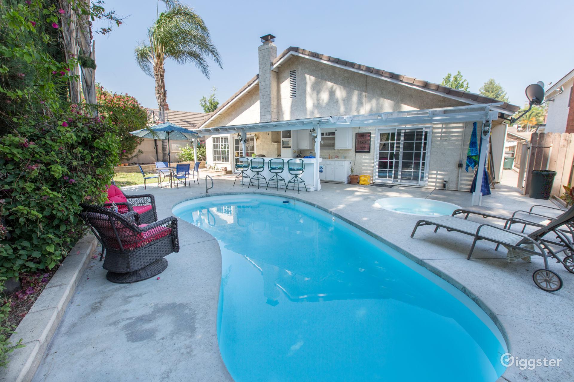 Backyard Beach House in Santa Clarita Los Angeles Rental