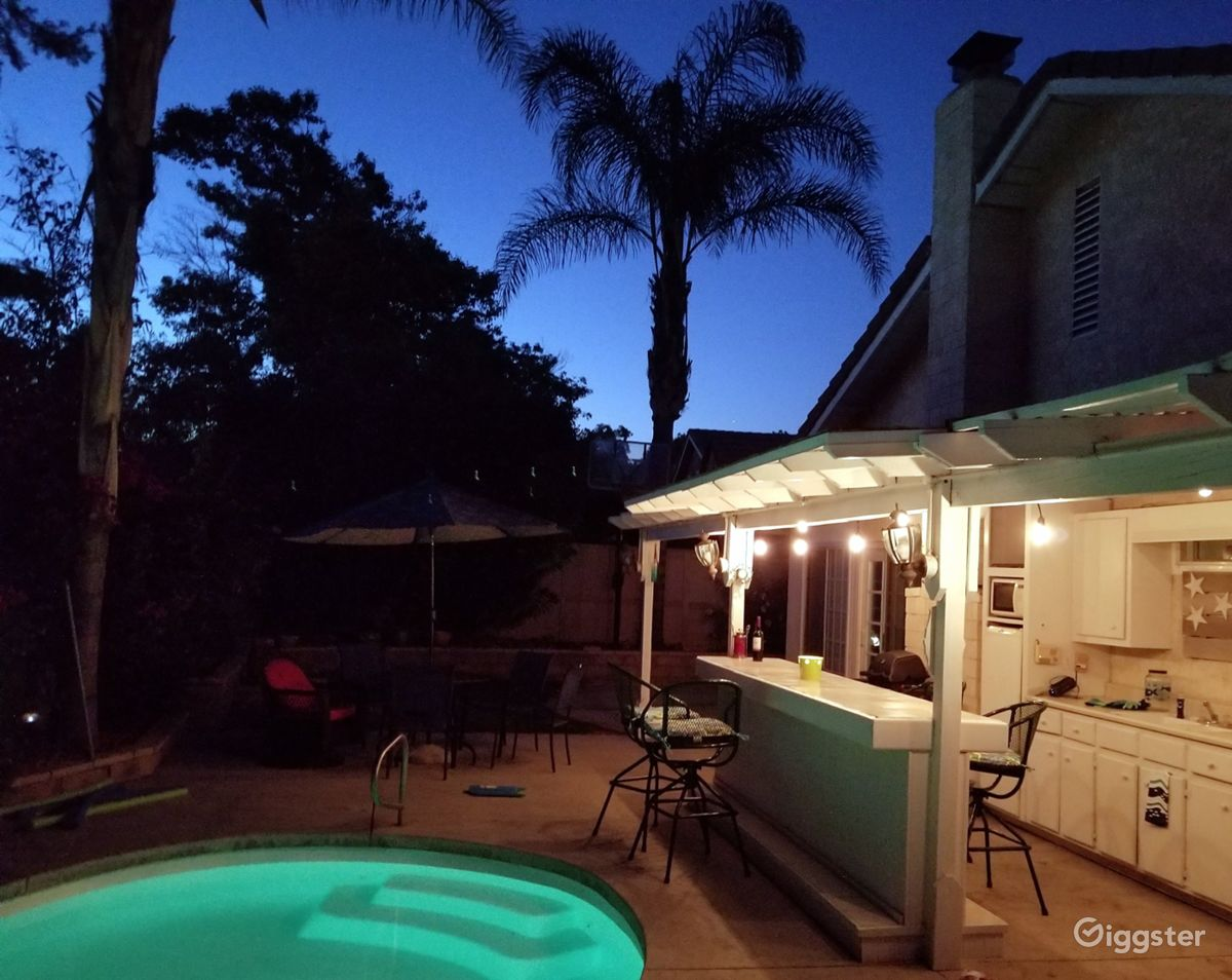 Rent The House(residential) Backyard Beach House In Santa Clarita For  Film/photoshoot