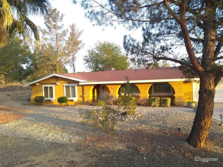 1970's Yellow House with Arches Photo 3