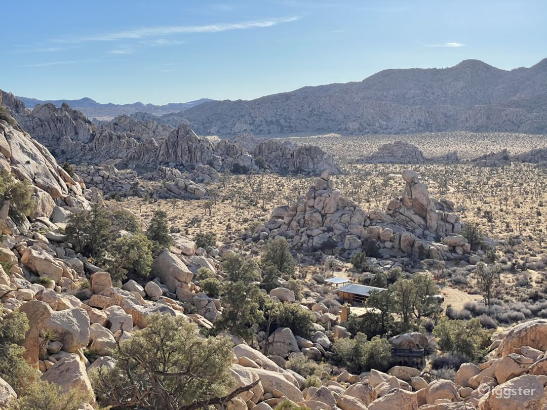 View from above the boulders.