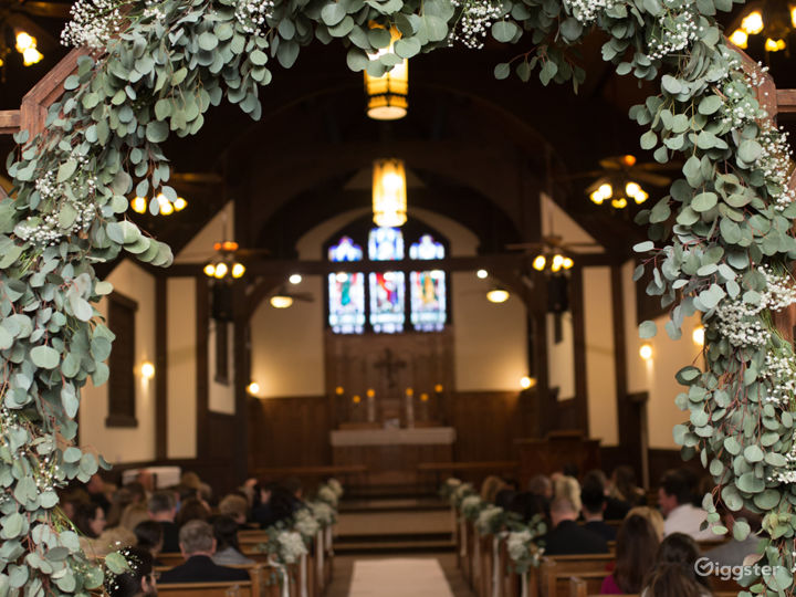 The Chapel is a beautiful, historical blend of Gothic, rustic and just wow with it's stain glass windows that date back to 1909.