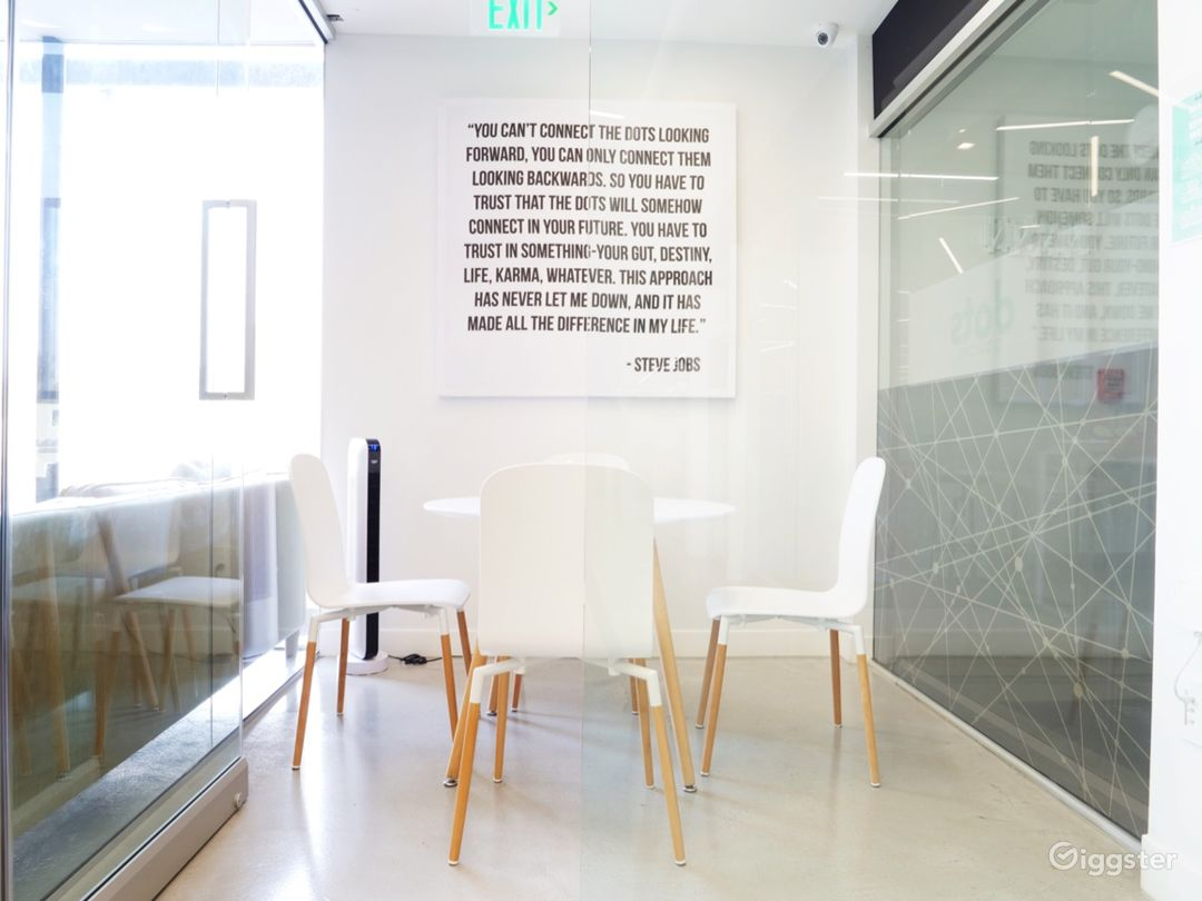 Office, Meeting & Yoga Spaces with Brick & Wood Photo 4