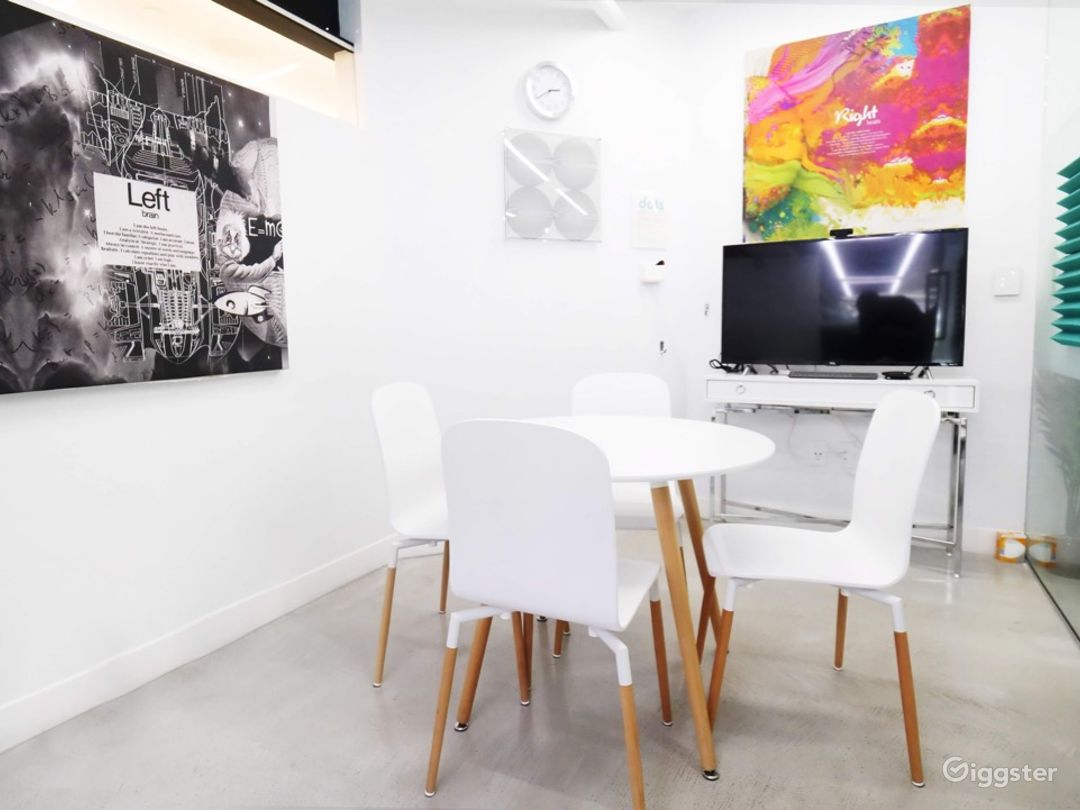 Office, Meeting & Yoga Spaces with Brick & Wood Photo 5