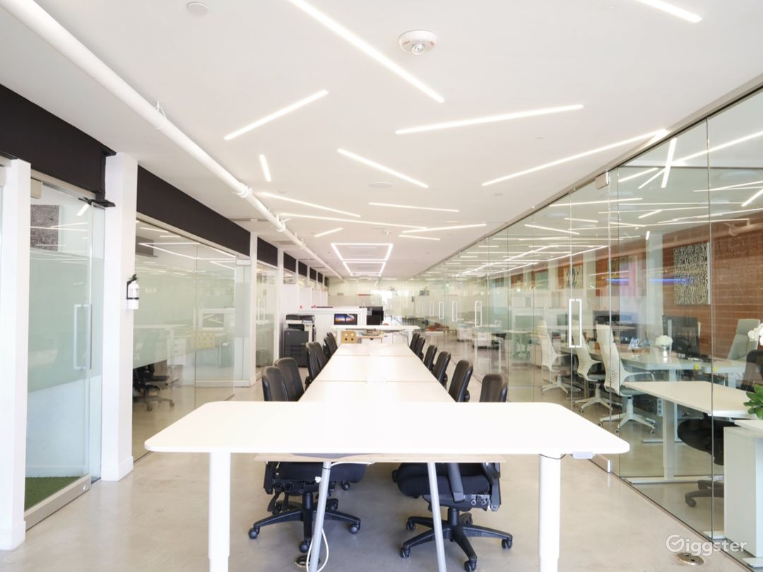 Office, Meeting & Yoga Spaces with Brick & Wood Photo 1