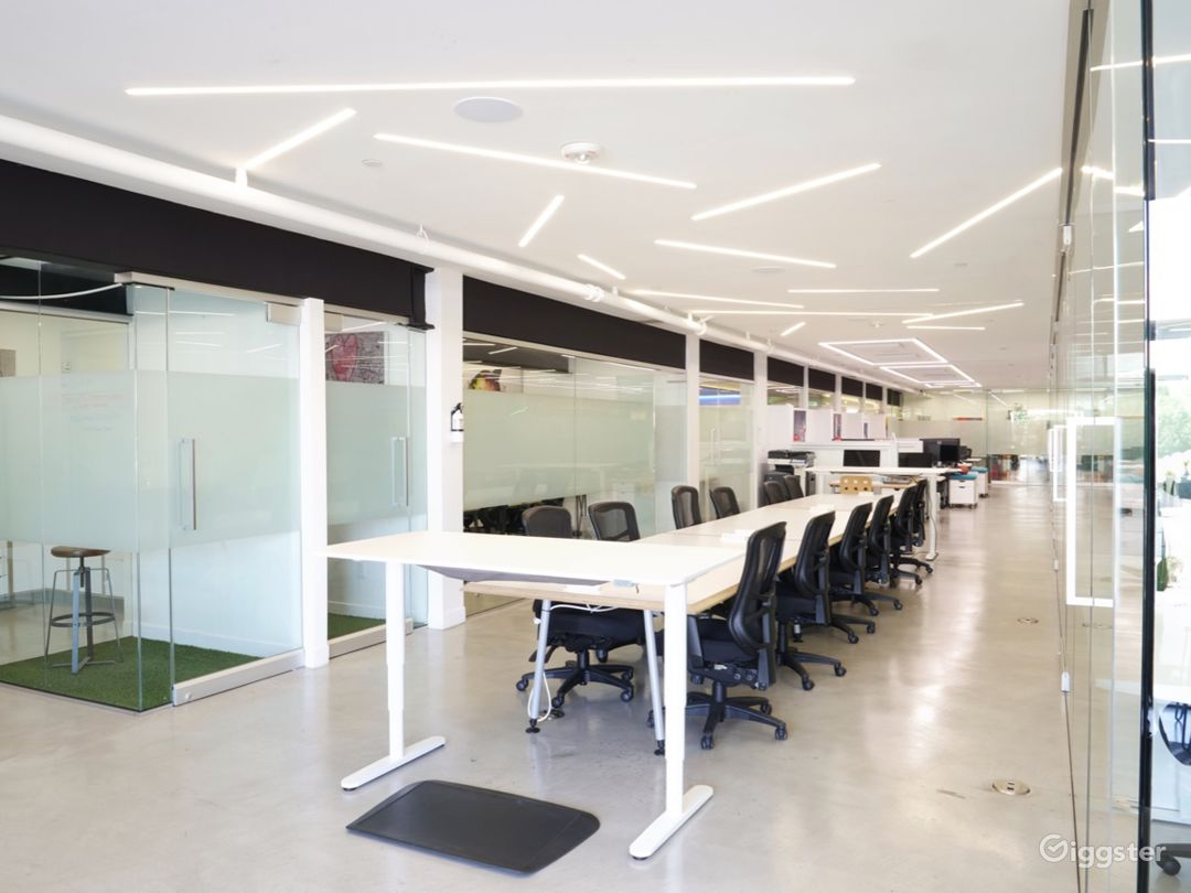 Office, Meeting & Yoga Spaces with Brick & Wood Photo 2