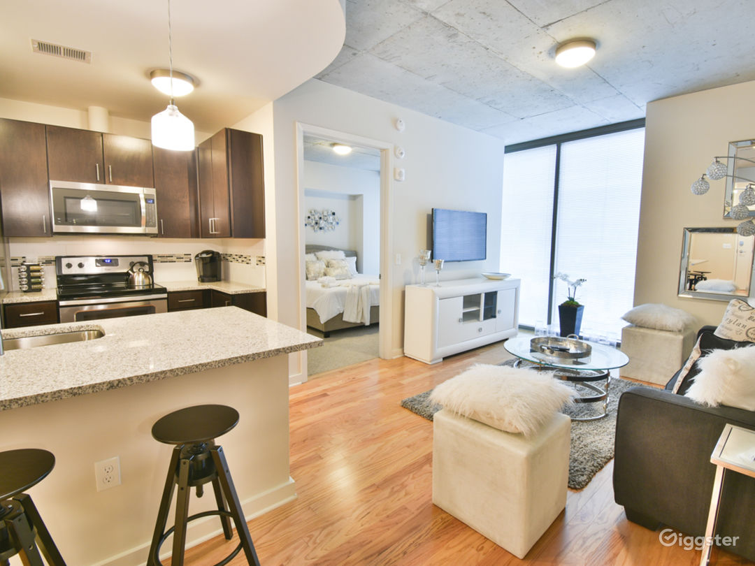 Chic Midtown Business District Apt Natural Light Photo 2