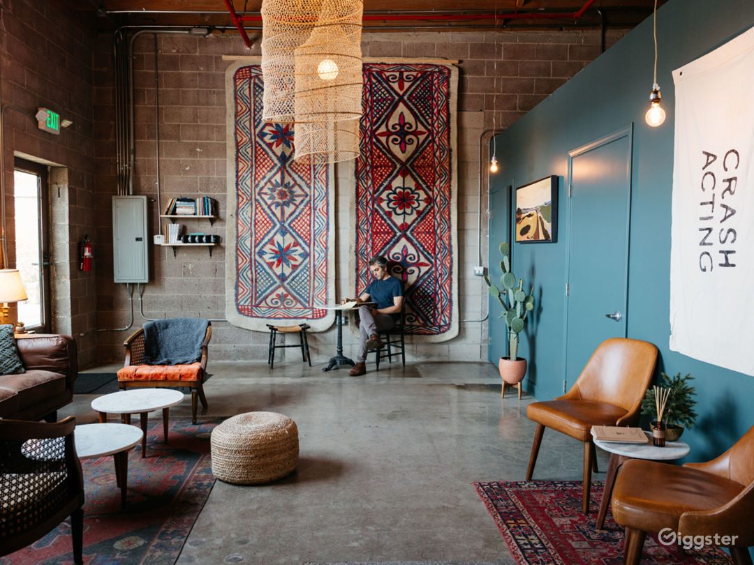 The lobby space is cozy, eclectic, and spacious.  Oh--and the lighting is amazing.