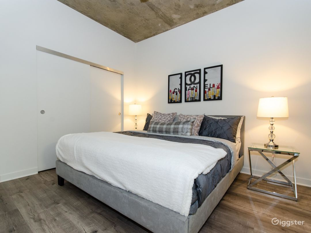 Bedroom Space with sliding closet