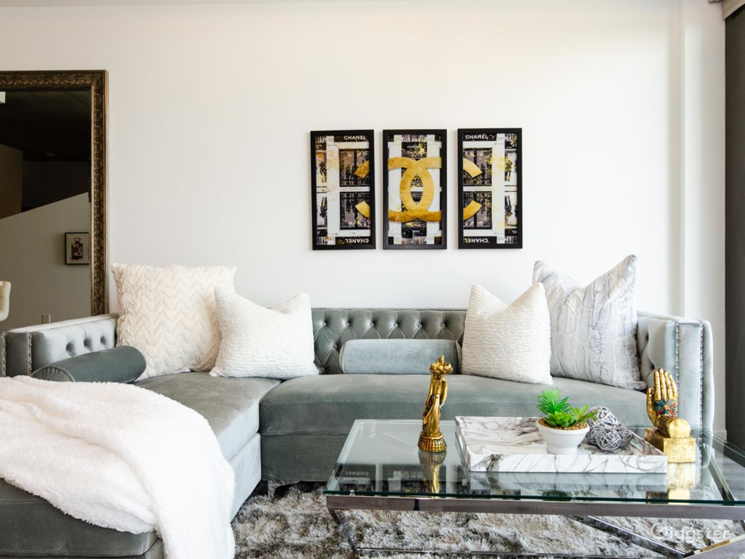 Great living room space and decore