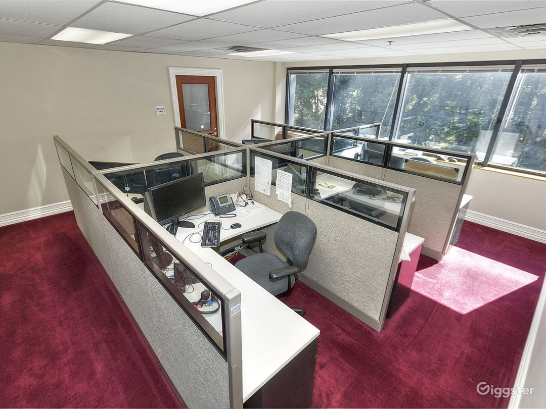 Traditional furnished offices with cubicles Photo 1