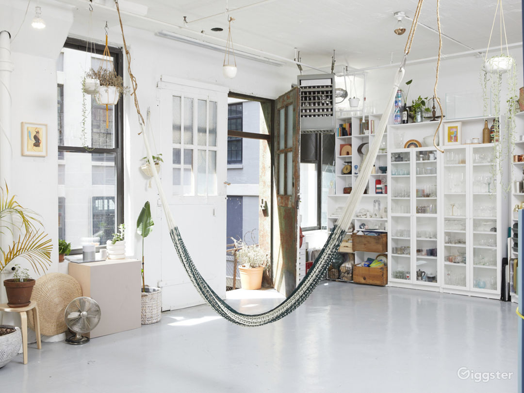Plant-filled Artist Loft with Props + Surfaces Photo 1