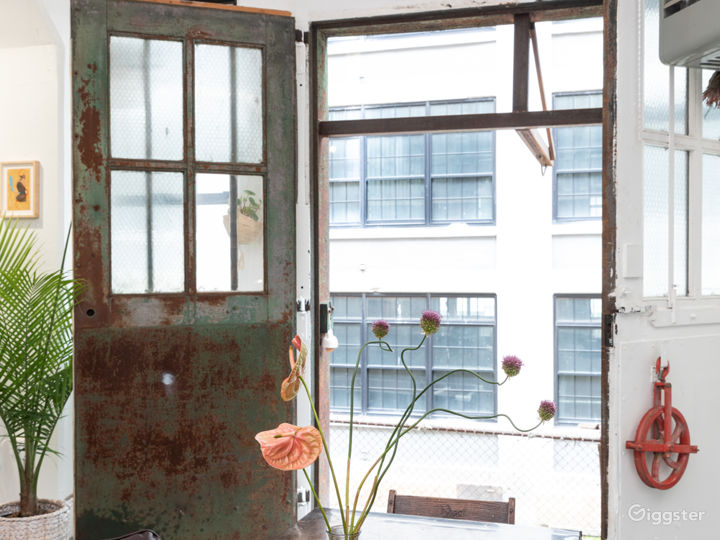 Plant-filled Artist Loft with Props + Surfaces Photo 2