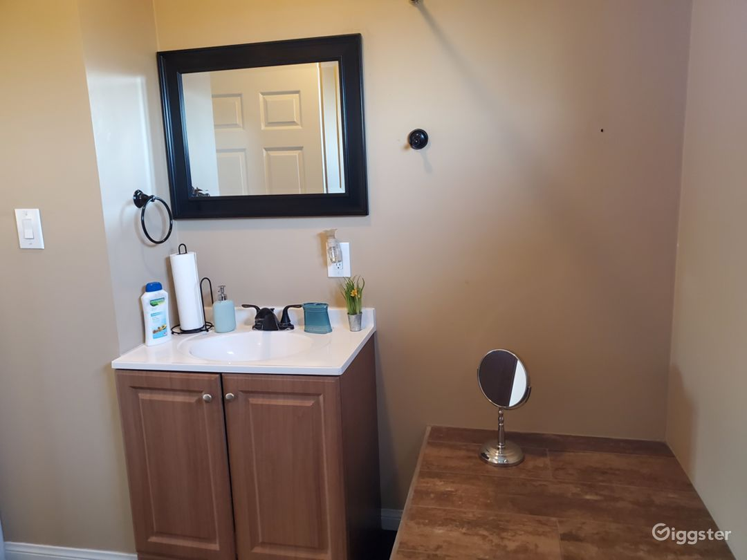 full bathroom vanity upstairs