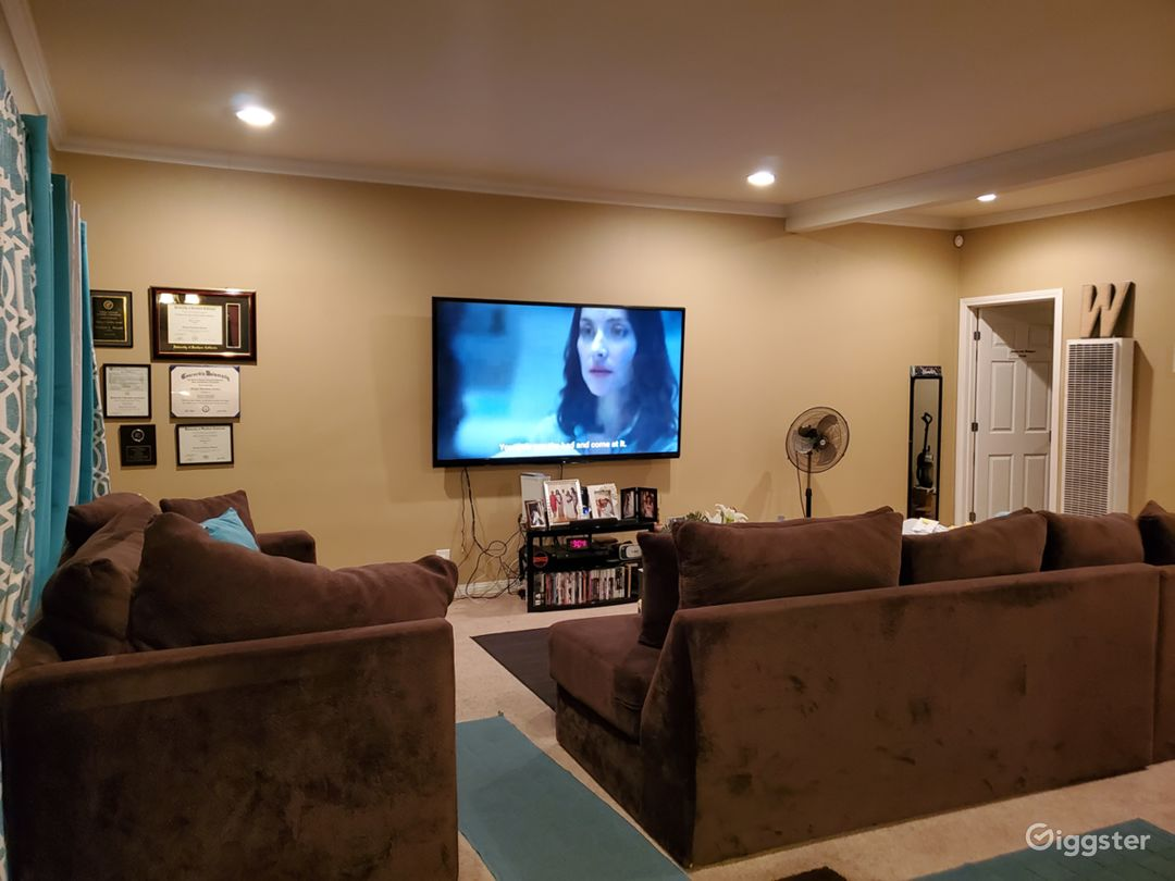 "living room. 80"" tv"