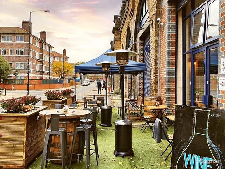 Patio Area with Live band in London