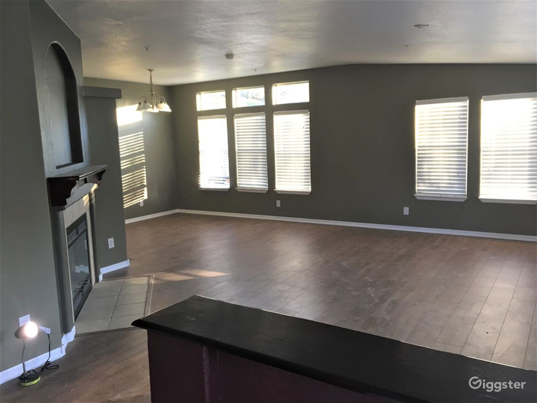 Looking from entry into Living room / Dining