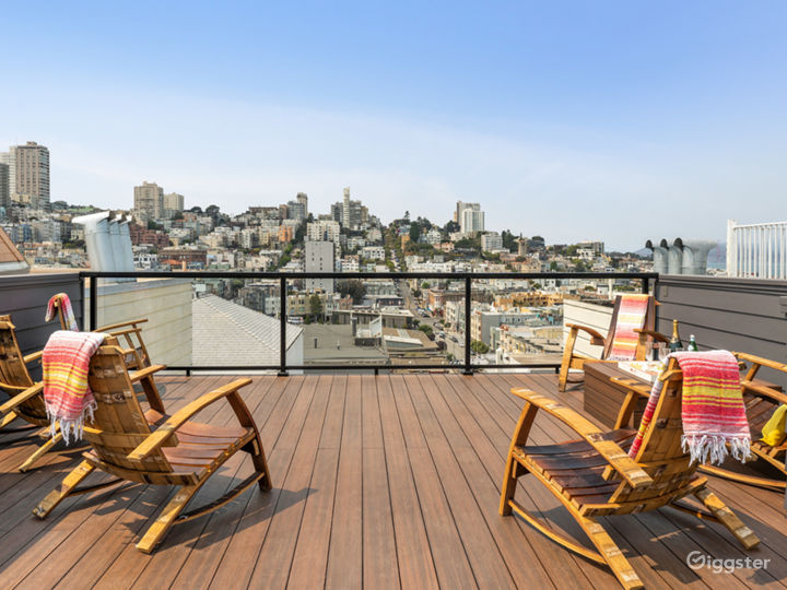 Top level 700 SQ Ft. Roof Deck