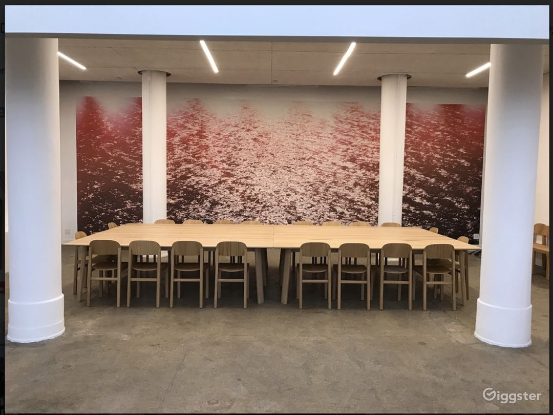 Awesome back room for large private meetings