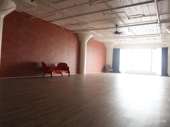 Brick Walls & Rustic Wood Floors in DTLA