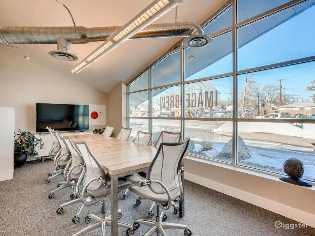 Glass-Windowed with Street View Conference Room  Photo 1