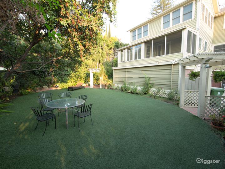 Backyard and Patio for filming In Los Feliz