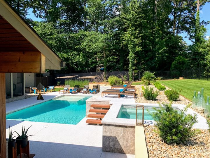 Two Levels of Pool Deck/Spa