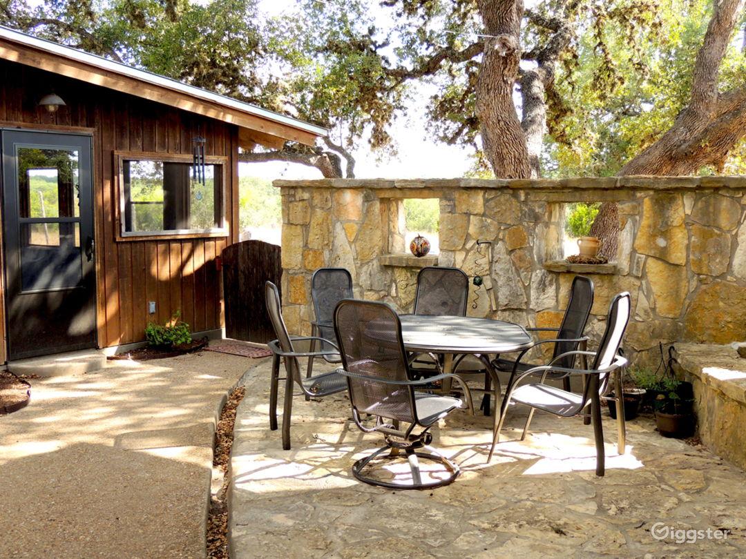 Stone patio & coutryard