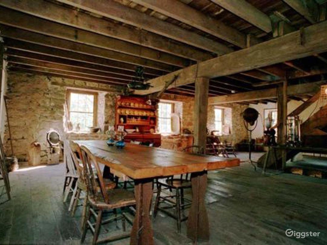 Historic stone farmhouse on a river: Location 2913 Photo 1