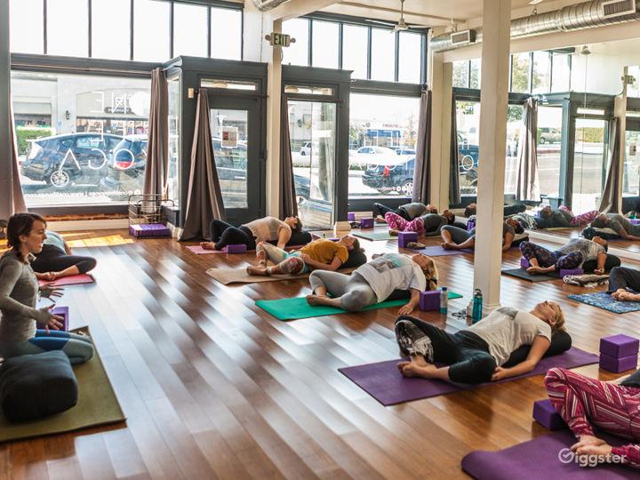 Peaceful, Bright, Light and Warm Yoga Studio
