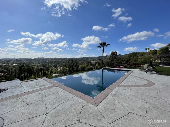 Backyard with Infinity Pool View
