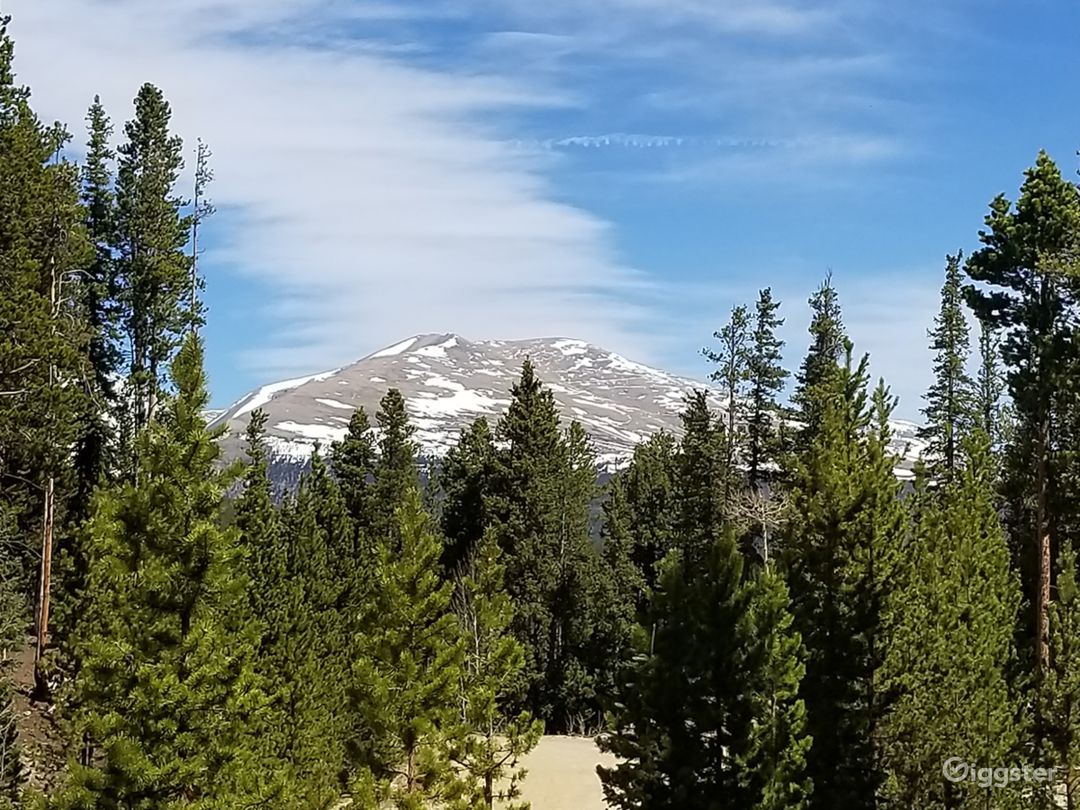 View of Mt Democrat from back deck