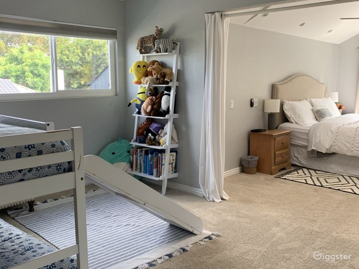 Big bedroom with king bed/bunkbed