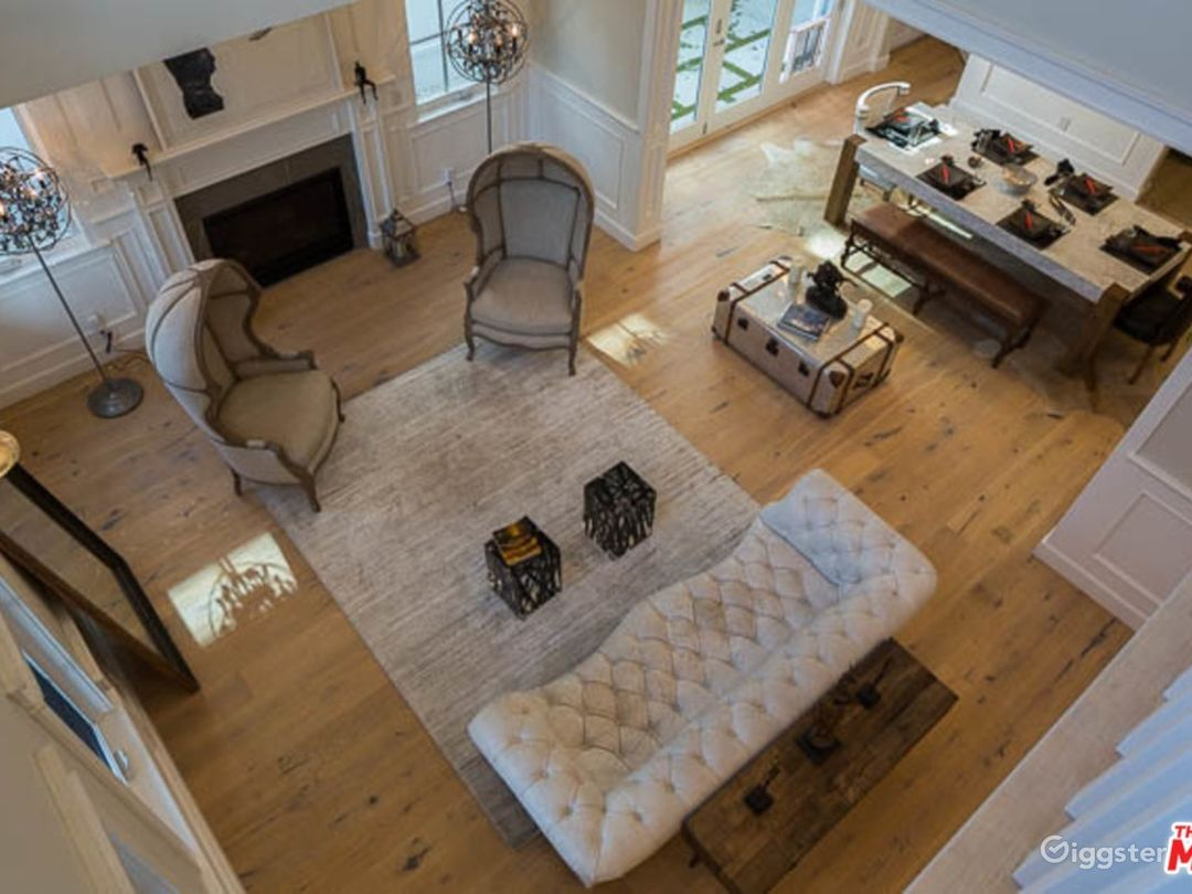 You are greeted with 20ft ceilings upon walking into the house.