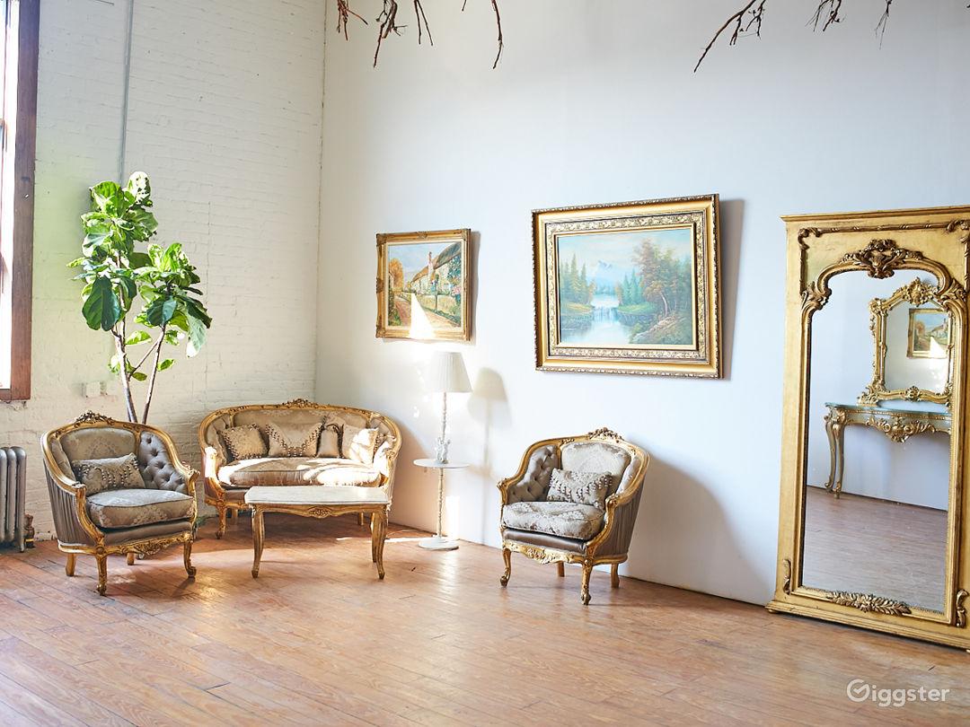 Photo Studio with Euro Chateau Furniture Props Photo 4