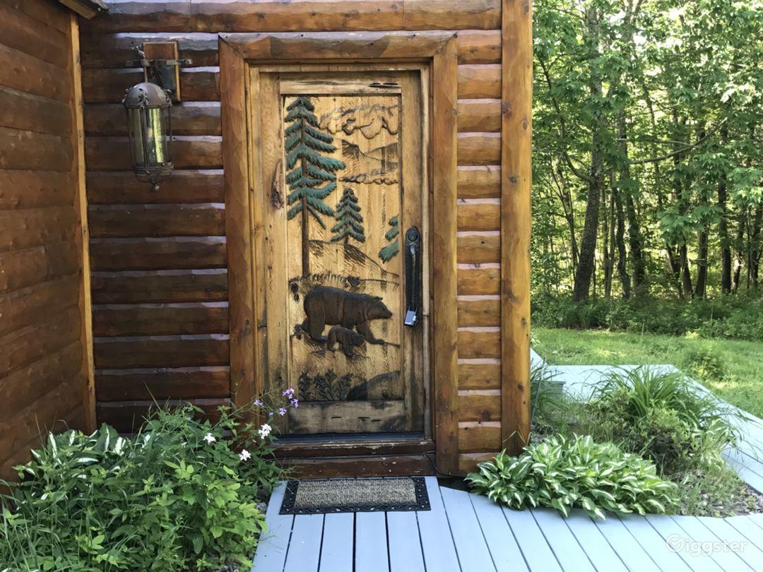 Custom engraved front door.