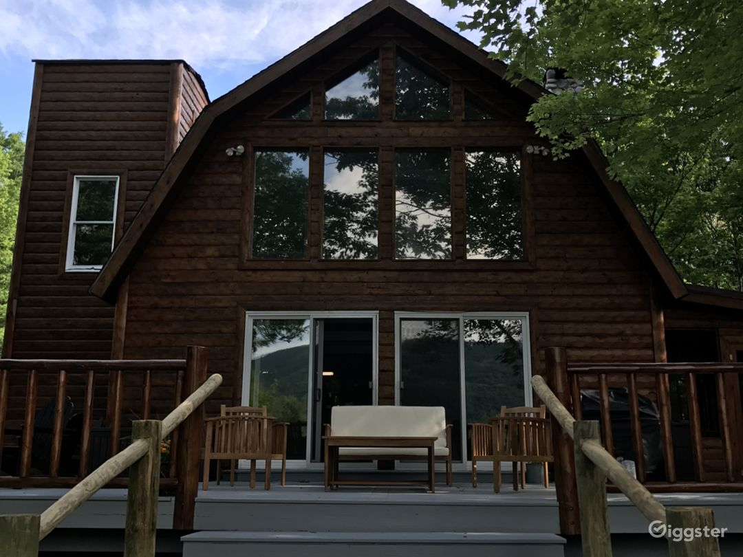 Back deck and back of the house.
