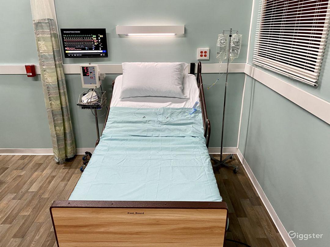 Hospital Room Set in Sound Proof Studio Photo 1
