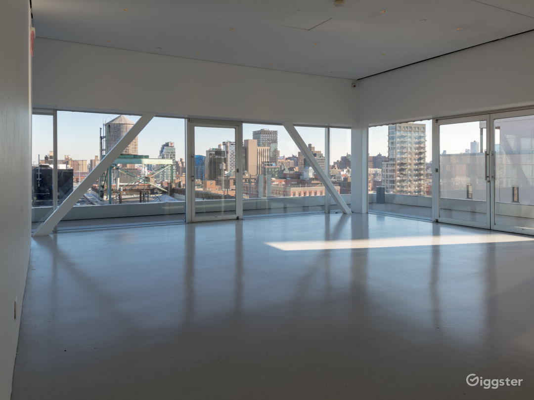 Sun-drenched Event Space with Terrace in Downtown Manhattan Photo 1