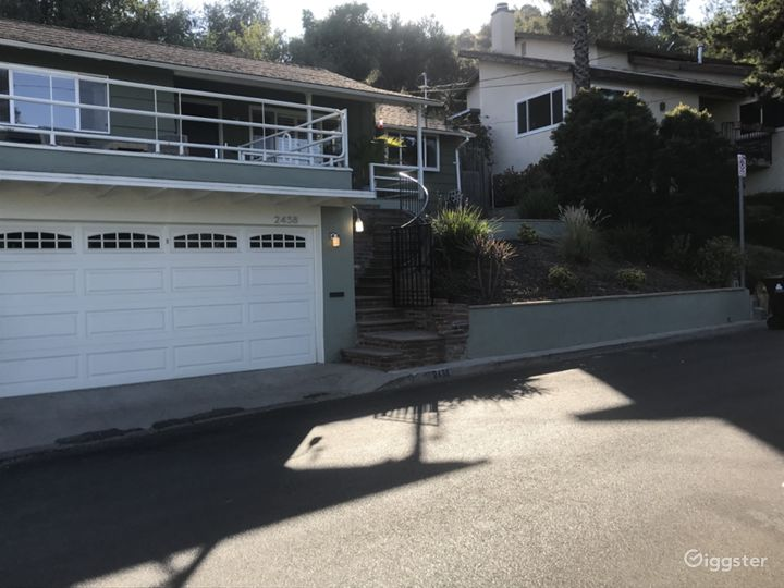 Alternate angle of garage and parking space.
