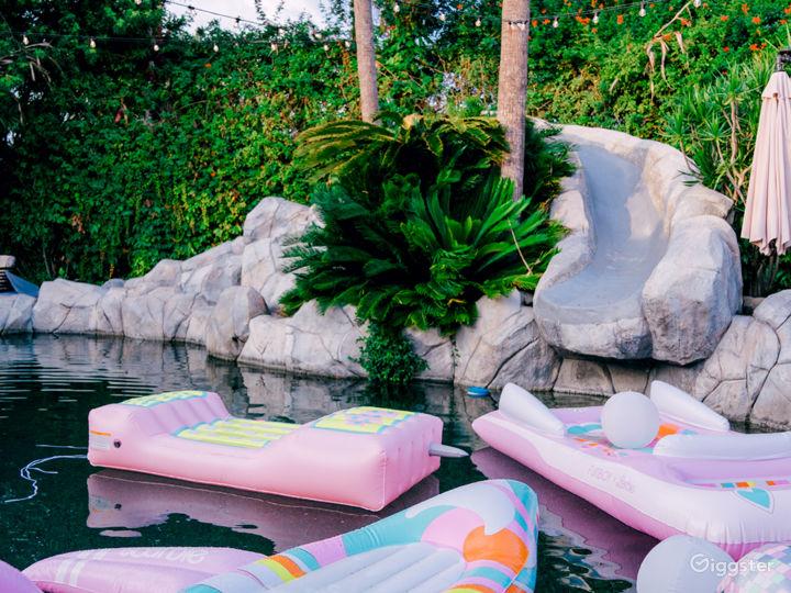 Private, tropical, resort-like yard/pool/slide Photo 4