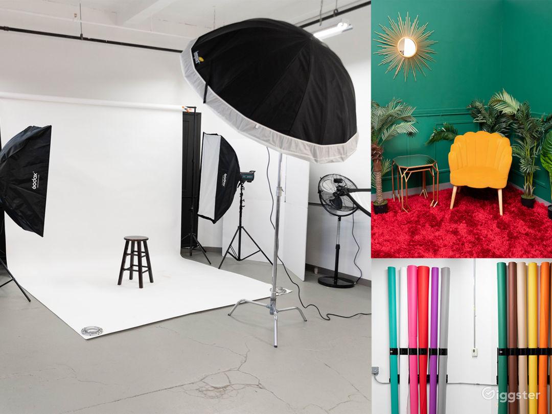 Spacious Modern Photo Studio and Room Set Photo 1