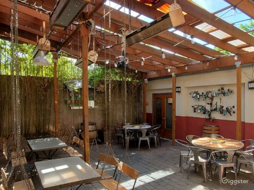 The Patio: Brilliant Backyard with Removable Roof for Warm Sunny Days Photo 1