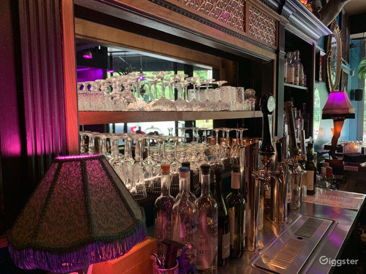 The bar with retro glassware