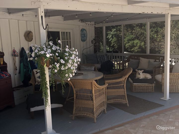 Rear patio by pool