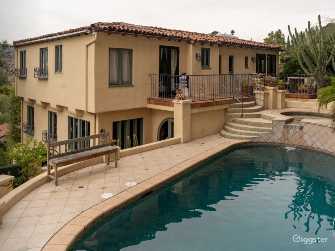 Storybook Hollywood Hills Mediterranean Villa Photo 4