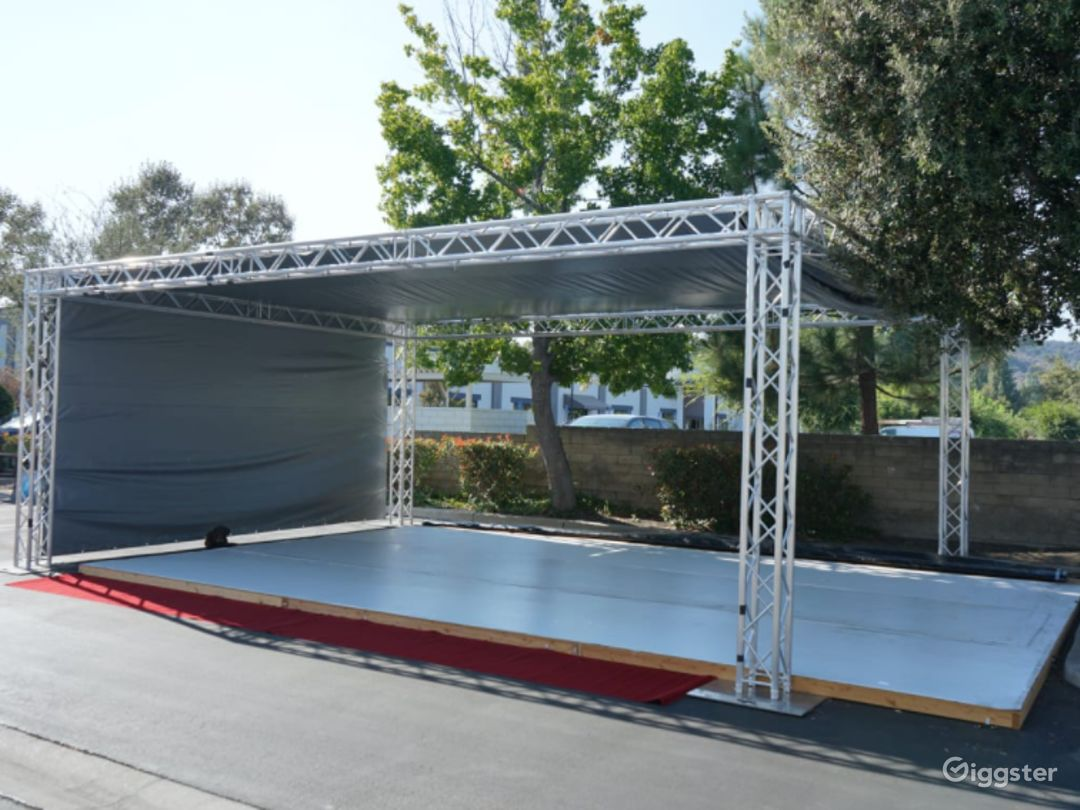Outdoor Stage Perfect for Group Sessions Rehearsals, and Performance Photo 1