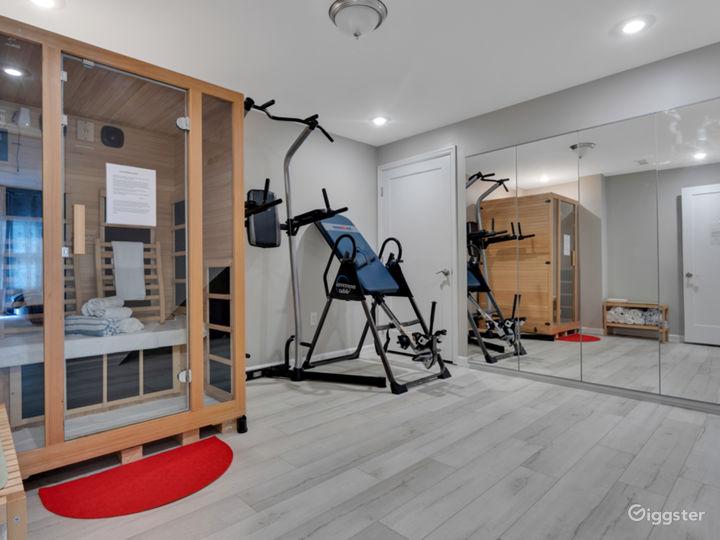 Gym with far infrared sauna
