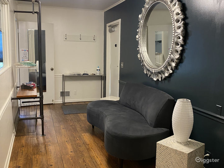 Sweet Lobby with Giant Sun Mirror.