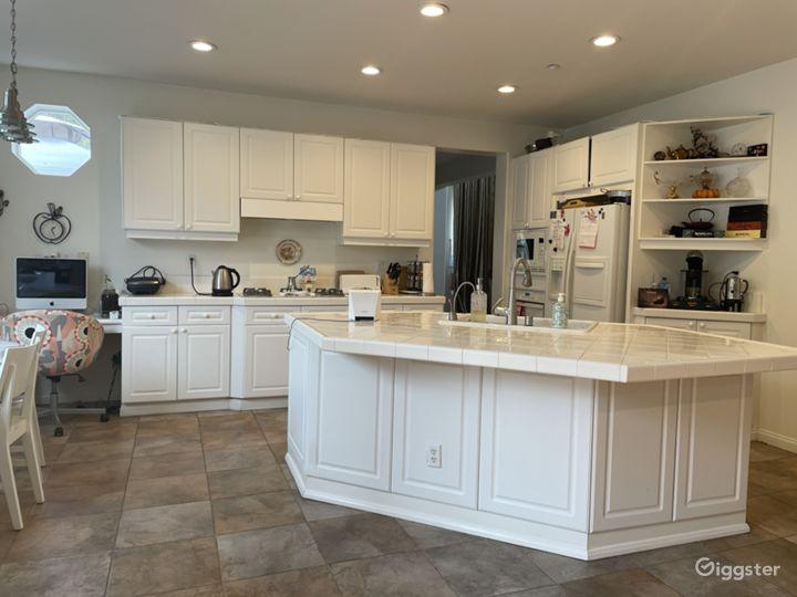 White Open Floor Kitchen
