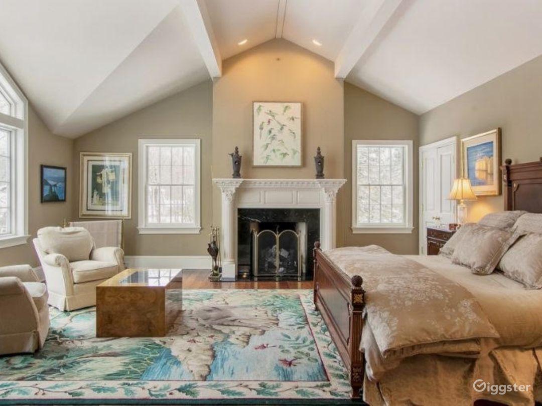 Bedroom w/ Fireplace